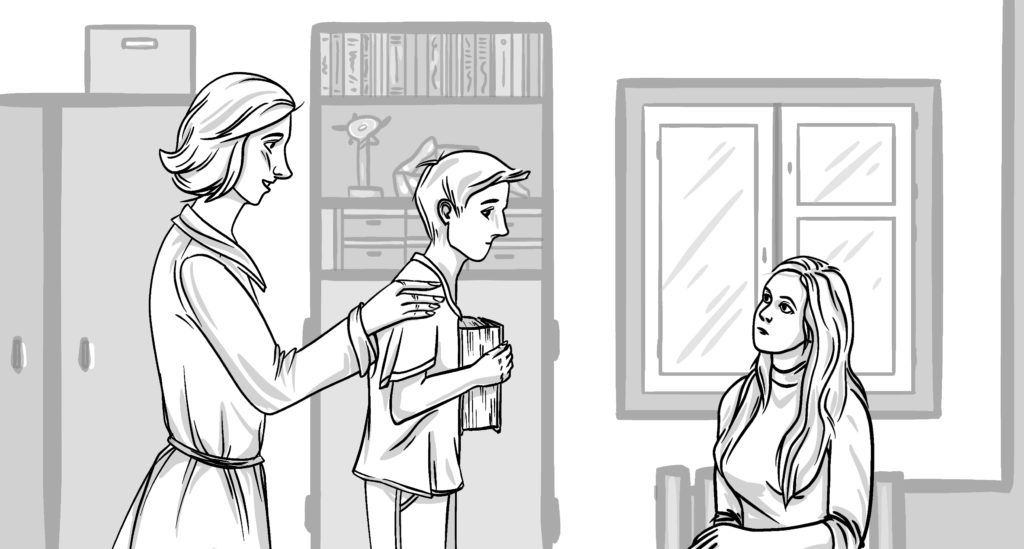 Подросток входит на консультацию